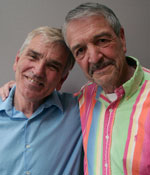 Caption: Larry Rolf (L) and Denny Daniels (R)