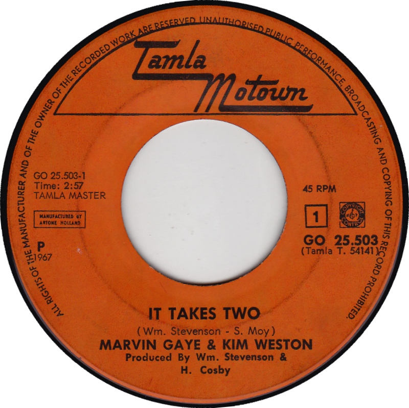 "Caption: Marvin Gaye & Kim Weston's ""It Takes Two"""