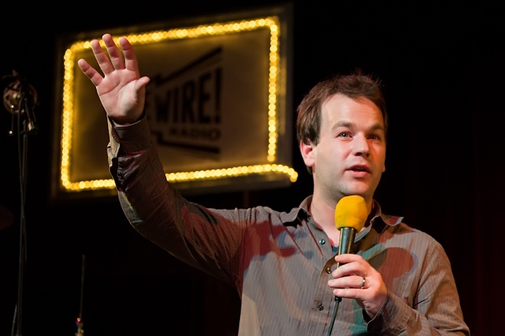 Caption: Mike Birbiglia, Comedian and star of the new film Sleepwalk With Me, Credit: Jennie Baker for Live Wire!
