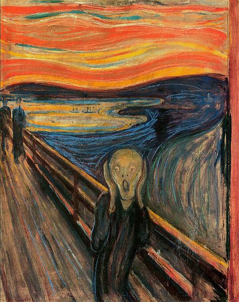 Caption: The Scream, Credit: Edvard Munch