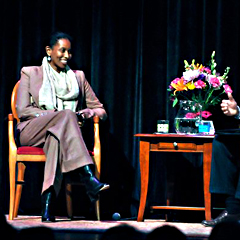 Caption: Activist Ayaan Hirsi Ali at the National Writers Series