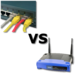 Caption: Wired Versus Wireless