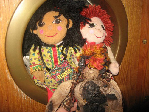 Caption: Rosie and Jim, the devilish ragdolls. , Credit: Sarah Golden