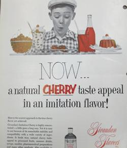 Caption: 1950s ad from the Givaudan Flavorist. , Credit: the Society of Flavor Chemists Library at Monell Chemical Senses Center.
