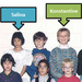 Caption: Konstantine and Salina in grade 2 class photo.