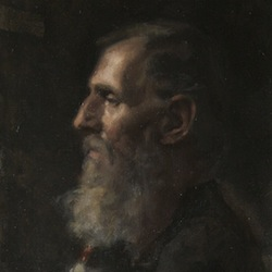 Caption: Detain from Marcel's Portrait, Credit: Painting by Emile B Klein
