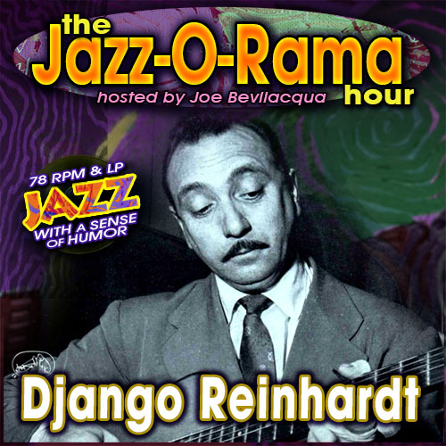 Caption: Joe Bev hosts an hour of Django Reinhardt 78s., Credit: Lorie B. Kellogg