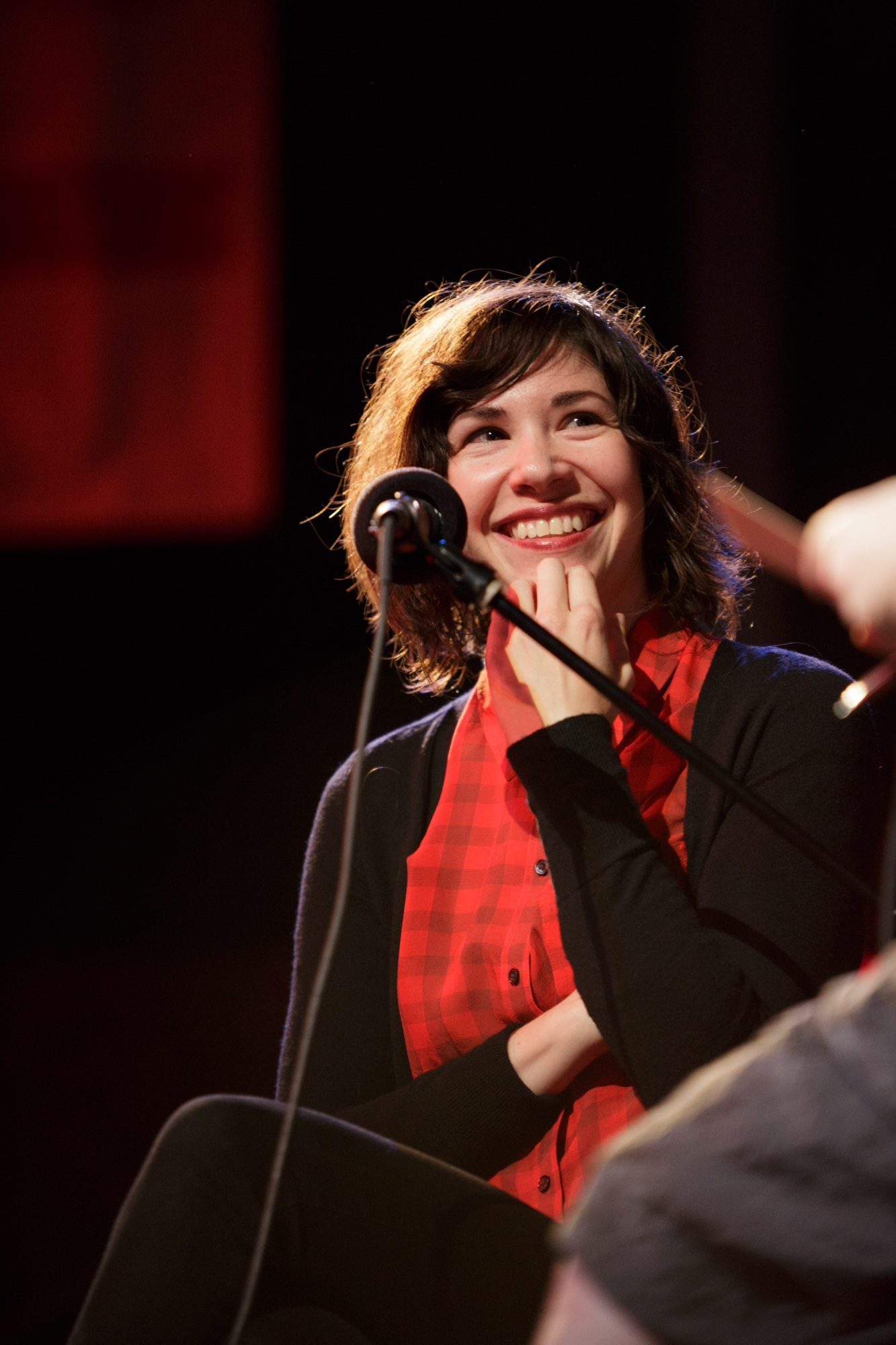 Caption: Actress, Author & Singer Carrie Brownstein, Credit: Jennie Baker for Live Wire!