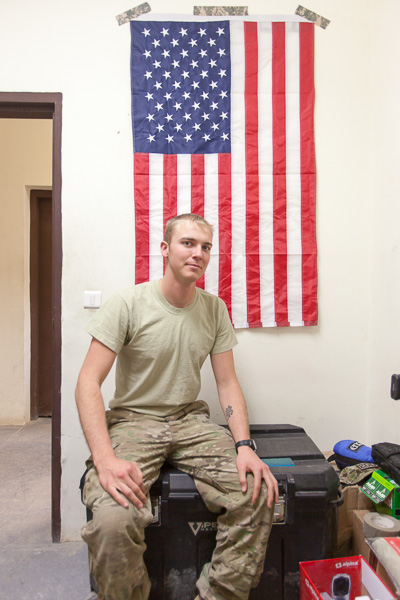 Caption: Spc. Lackey, Credit: Jake Warga