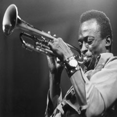 Caption: Miles Davis