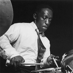 Caption: Jazz all-star Art Blakey