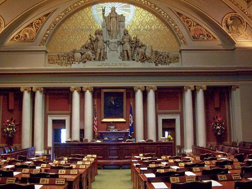 Caption: Minnesota House of Representatives Chamber