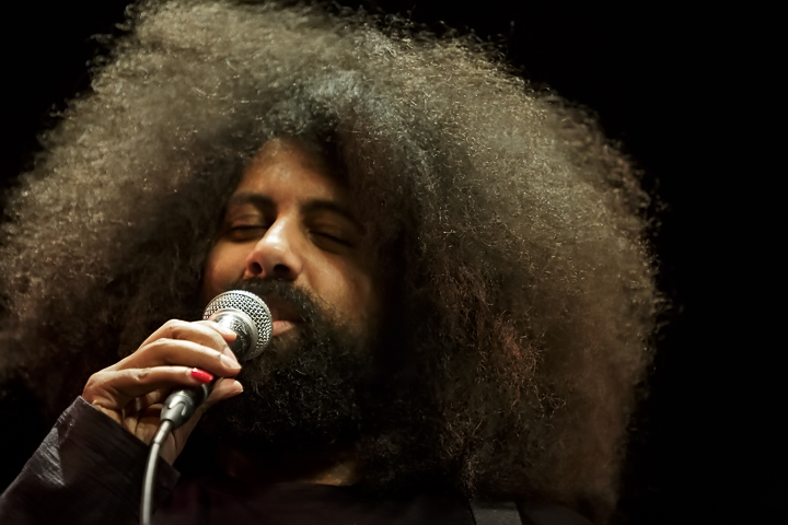 Caption: Improvisational Comedian Reggie Watts, Credit: Jennie Baker for Live Wire!