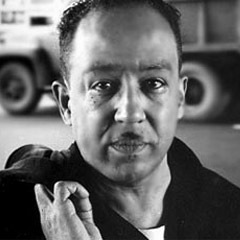 Caption: Jazz poet Langston Hughes