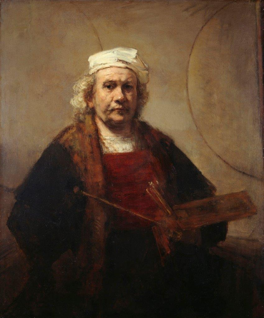 Caption: Rembrandt Self Portrait with Two Circles, Credit: courtesy of Gary Faigin