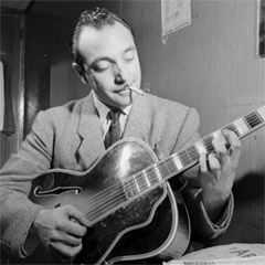 Caption: The godfather of gypsy jazz, Django Reinhardt