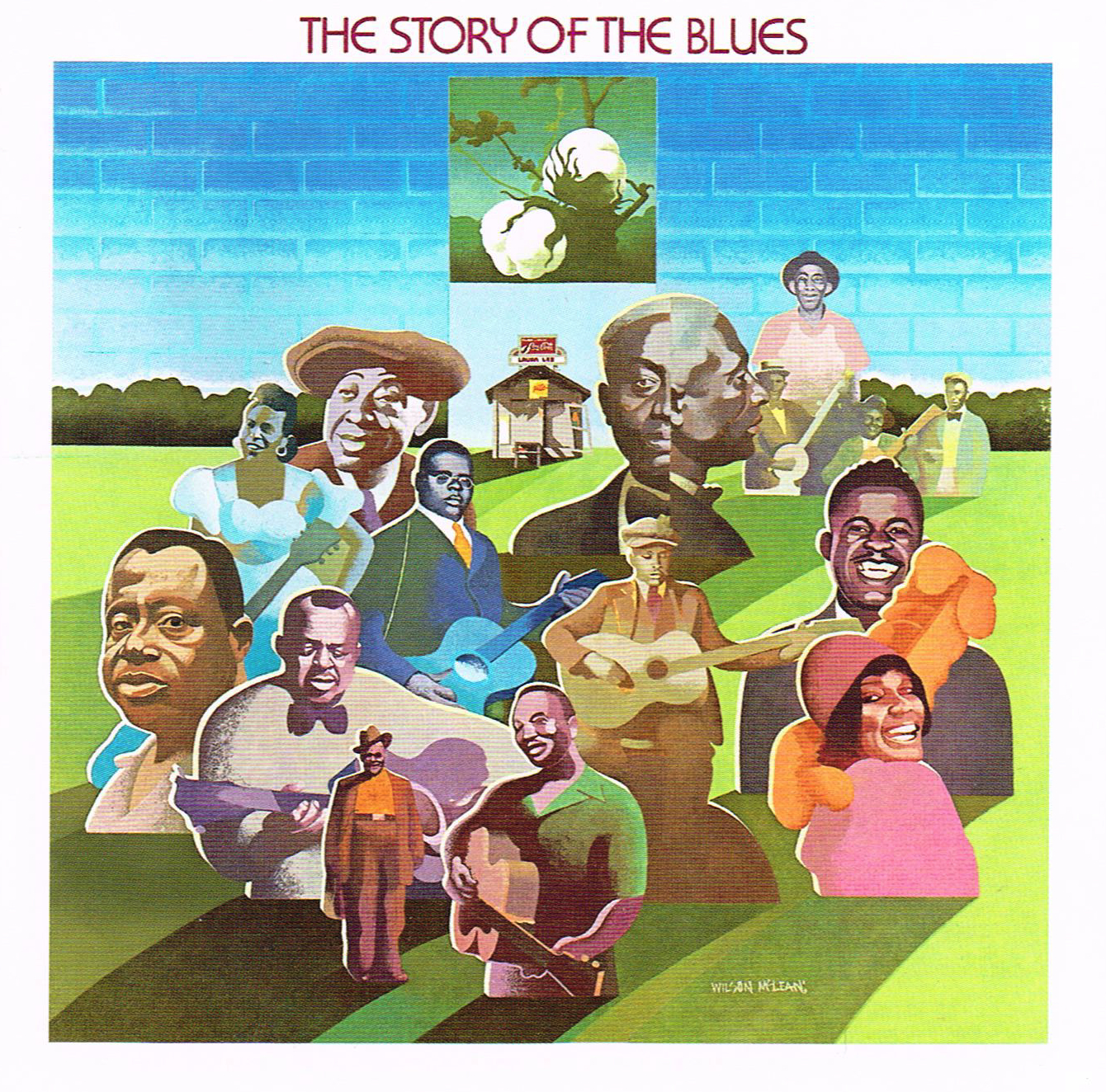 "Caption: The cover for ""The Story of the Blues,"" as issued in the U.S. by Columbia Records."