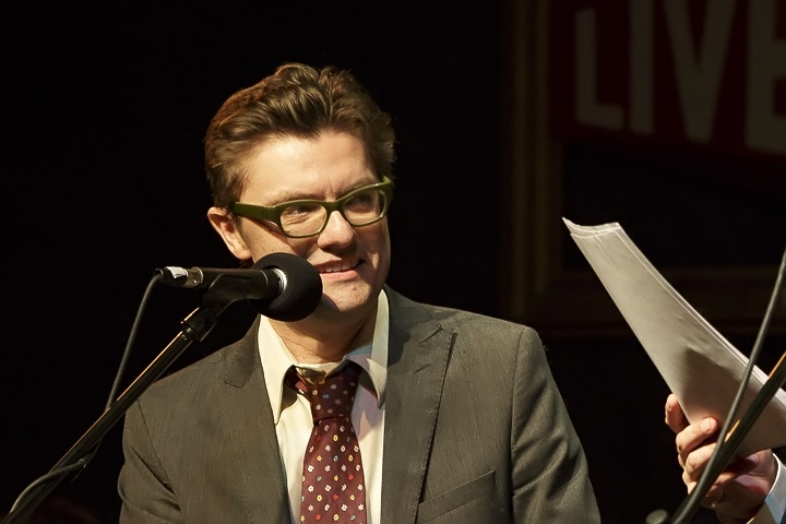 Caption: Film, Television & Voice Actor James Urbaniak, Credit: Jennie Baker for Live Wire!