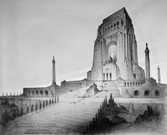 Caption: Proposed Mothers' Memorial by John Geddes, 1922-30, Credit: (Library of Congress).