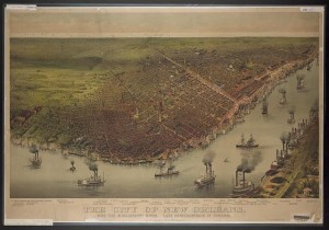 Caption: City of New Orleans Circa 1885, Credit: Courtesy of the Library of Congress