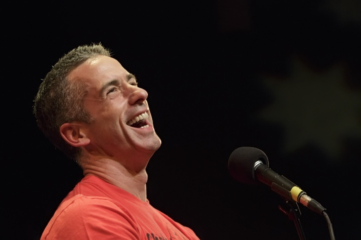 Caption: Syndicated sex columnist Dan Savage, Credit: Jennie Baker for Live Wire!
