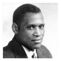 Caption: Paul Robeson