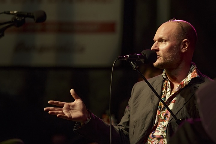 Caption: NYTimes Best Selling Author Augusten Burroughs, Credit: Jennie Baker for Live Wire!