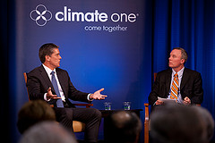 Caption: Marvin Odum, President of Shell Oil Co with Host Greg Dalton, Credit: Rikki Ward, Photographer