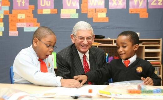 Caption: Education philanthropist Eli Broad, Credit: Philanthropy Magazine