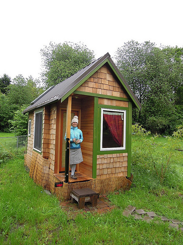 Caption: Tiny house living requires a minimalist approach., Credit: Califia Suntree