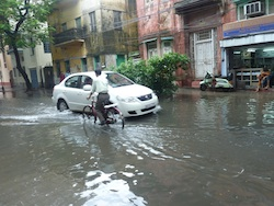 Caption: Flooded Streets, Credit: Sandip Roy