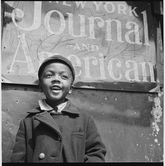 Caption: Harlem newsboy, 1943. Photograph by Gordon Parks, Credit: Library of Congress
