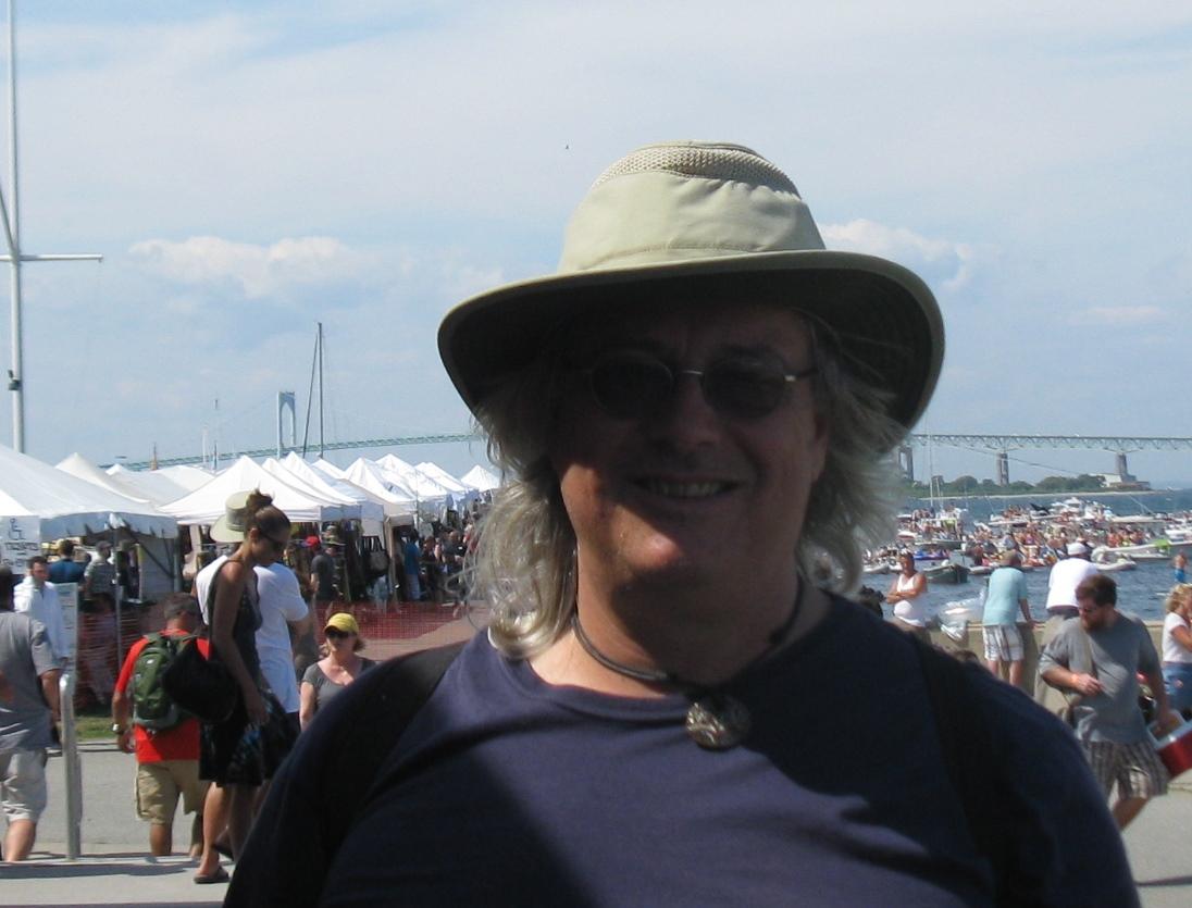 Caption: Tom Perotti at Newport Folk Festival 2013, Credit: Rhonda J. Miller