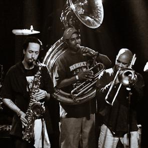 Caption: Rebirth Brass Band