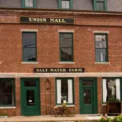 Caption: Salt Water Farm cafe in Union Hall, Rockport, Maine, Credit: Catherine Carter