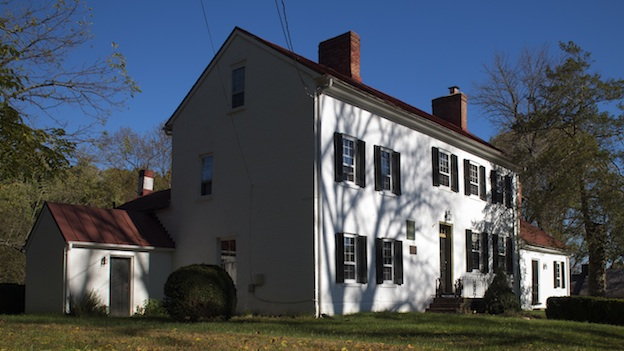 "Caption: After fleeing Washington, D.C., during the War of 1812, President James Madison spent the night in this Brookeville home, supposedly making Brookeville ""U.S. Capital for a Day."" , Credit: Washington Post"