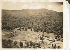 Caption: View of the prison camp, 1943., Credit: From the collection of Ed Friel.