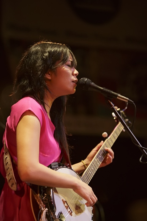 Caption: Thao and the Get Down Stay Down, Credit: Jennie Baker for Live Wire!
