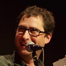 Caption: Composer, musician and writer Michael Hearst, Credit: Jennie Baker for Live Wire!