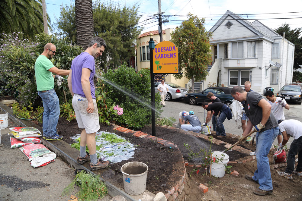 Caption: Neighbors of the Quesada Gardens Initiative, Credit: Kevin B. Jones