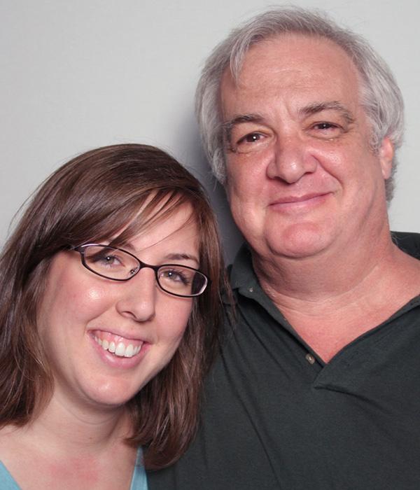 Caption: Rebecca (L) and Carl (R) Greenberg