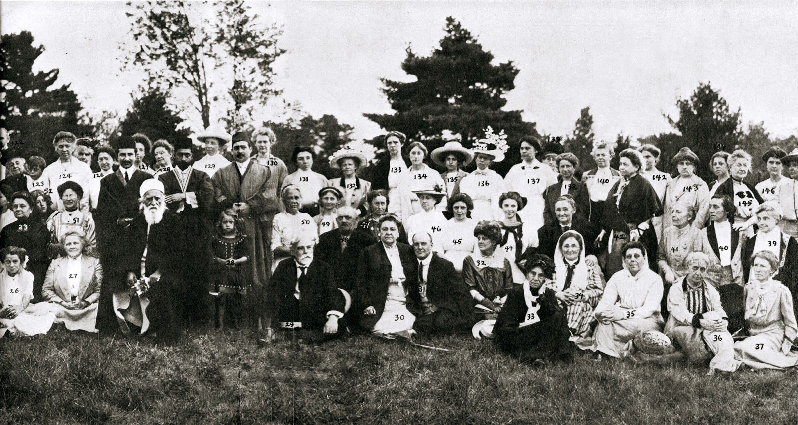 Caption: In 1912, Abdul-Baha, leader of the Baha'i faith, visited Greenacre, a religious community in Maine founded by Sarah Farmer., Credit: Wikimedia Commons