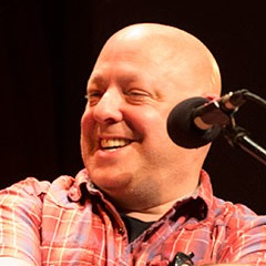 Caption: Comic book writer Brian Michael Bendis, Credit: Duane Bolland for Live Wire! Radio