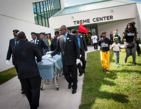 Caption: Herman Wallace's funeral