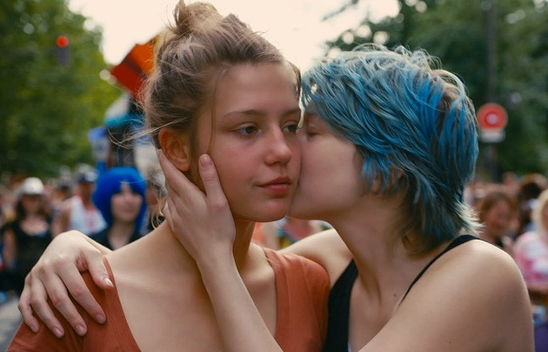 Caption: Adèle Exarchopoulos and Léa Seydoux in 'Blue Is the Warmest Color'