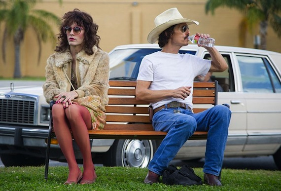 Caption: Jared Leto and Matthew McConaughey in 'Dallas Buyers Club'