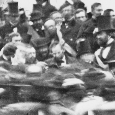 Caption: Abraham Lincoln at Gettysburg, November 19th, 1863., Credit: Library of Congress