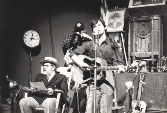 Caption: Mountain Stage host Larry Groce in the early days of the show.
