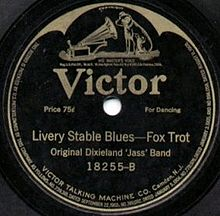 Caption: Victor ODJB 78 RPM