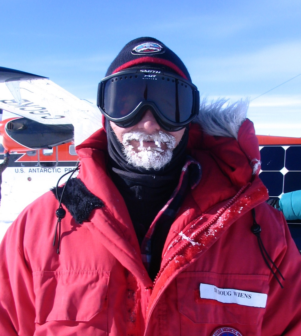 Caption: Doug Wiens in Antarctica